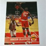 1993-94 SkyBox NBA Hoops Houston Rockets Basketball Card #78 Hakeen Ojajuwon